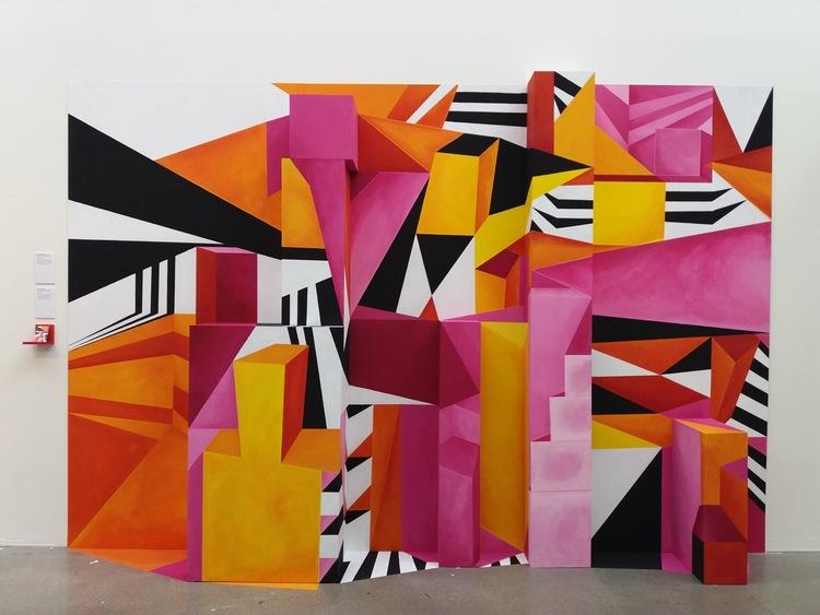 'Illusion färg komposition', 2017, ett konstverk av Emma Brålander