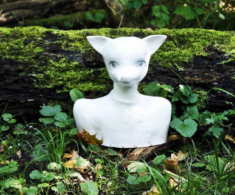 'White fox', 2014, ett konstverk av Karin Wiberg