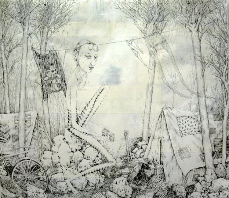 'Death Forest of Art and Science', 2006, ett konstverk av Oskar Korsár