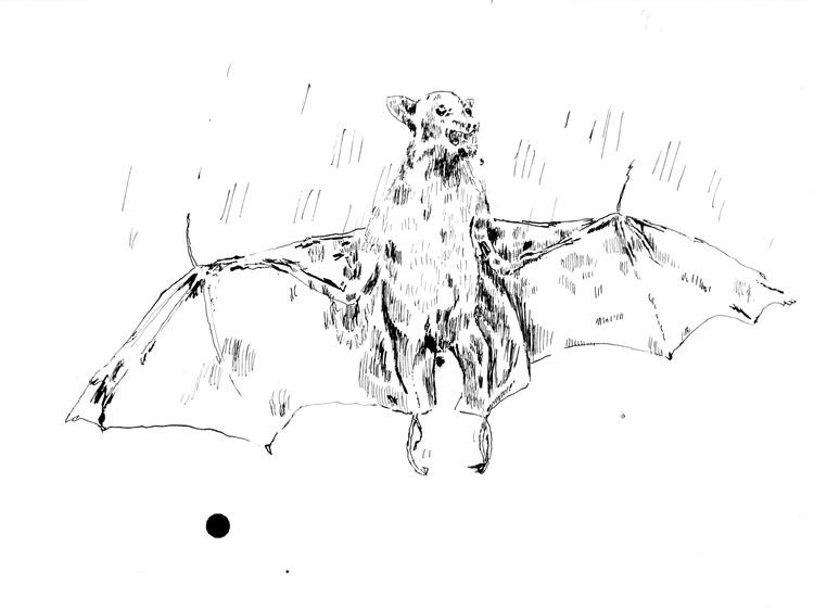 'Fladdermus', ett konstverk av Oskar Korsár