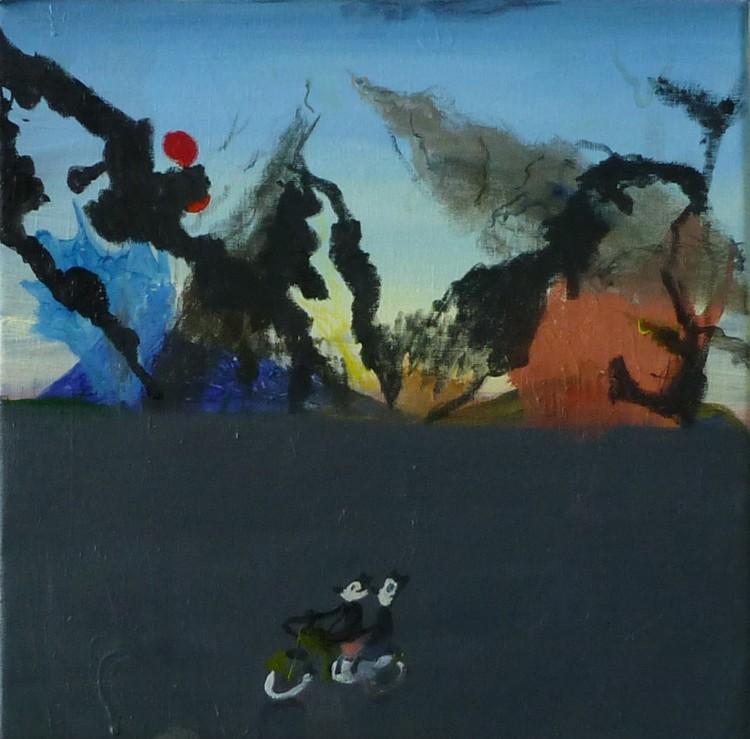 'Möss och eld', 2017, ett konstverk av Märta König