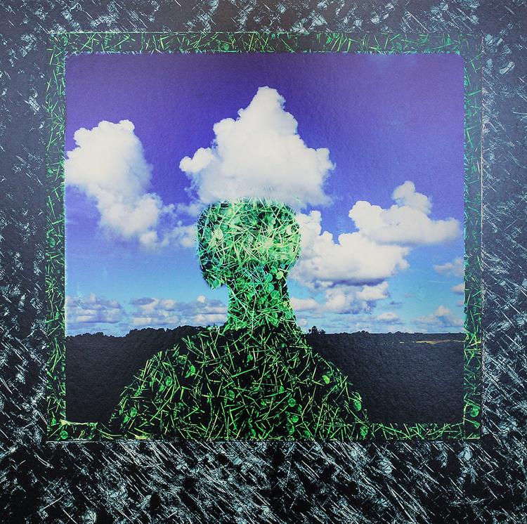 'Huvud i molnet', 2017, ett konstverk av Janne Tham
