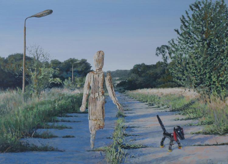 'Hedin och Sampo', ett konstverk av Per-Ivar Lindekrantz
