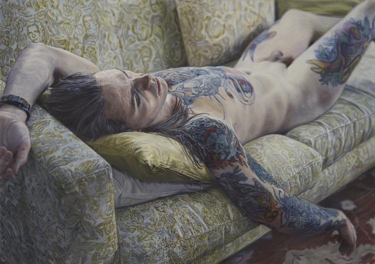 'Alexander på soffan', 2018, ett konstverk av Niklas Holmgren