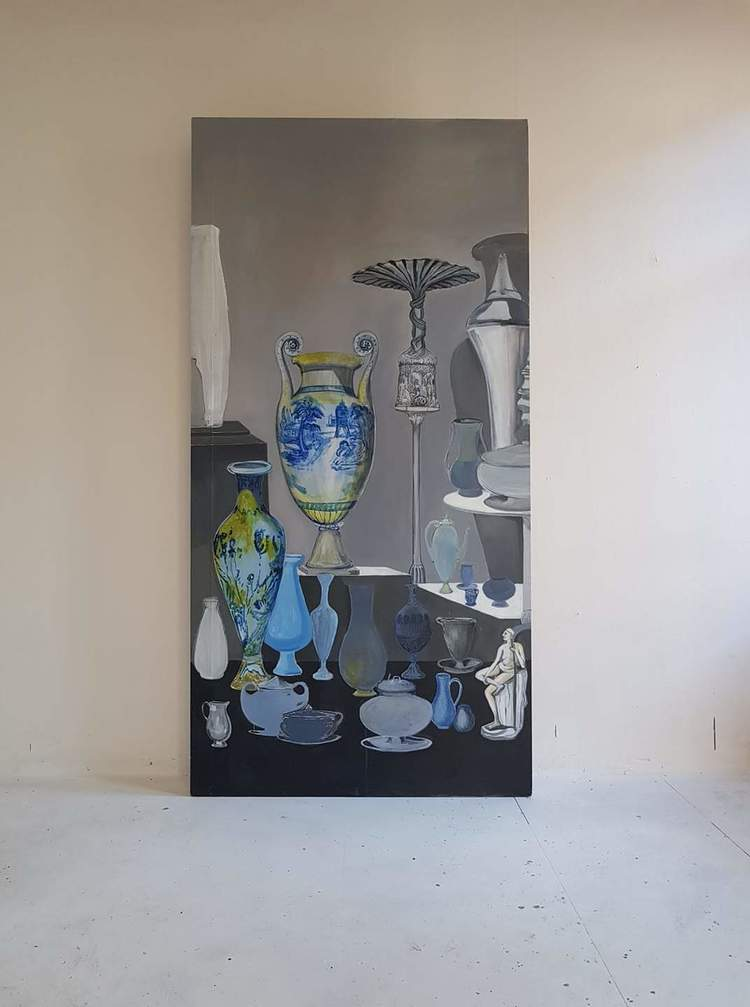 'Klockstapel', 2018, ett konstverk av Lina Bjerneld