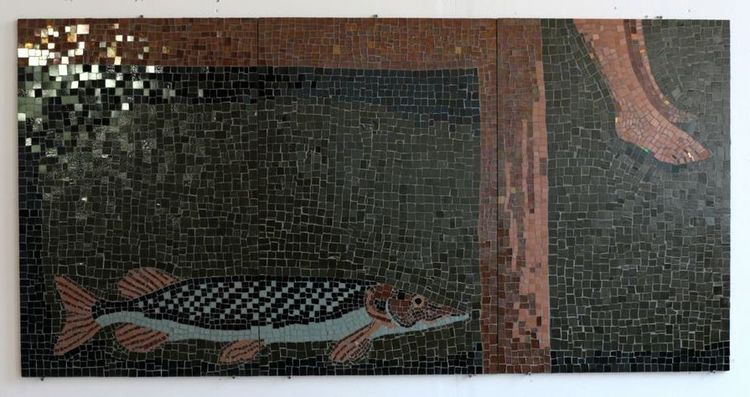 'Gädda', 2019, ett konstverk av Filippa Wikner