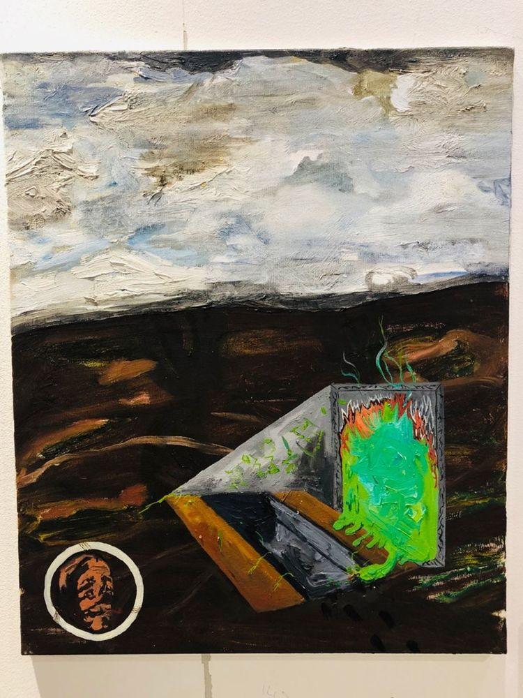 'Utgrävning', 2019, ett konstverk av August Nilsson