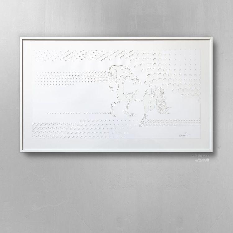 'Vildhästar / Koptógrafi', 2019, ett konstverk av Per Josephson