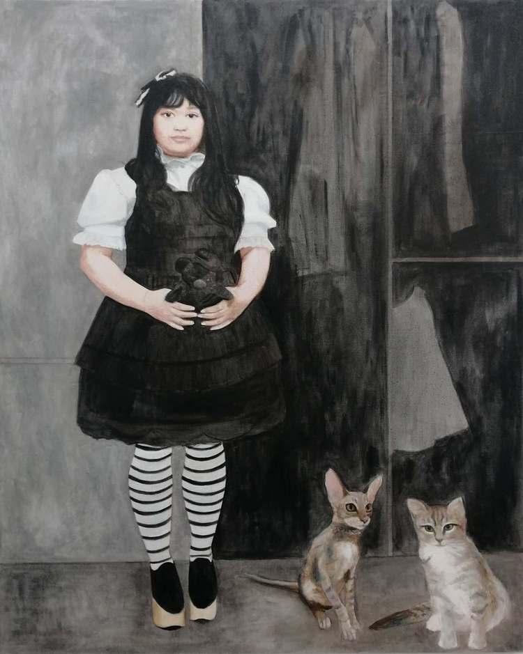 'Maria representing Old School', 2019, ett konstverk av Ulrika Wärmling