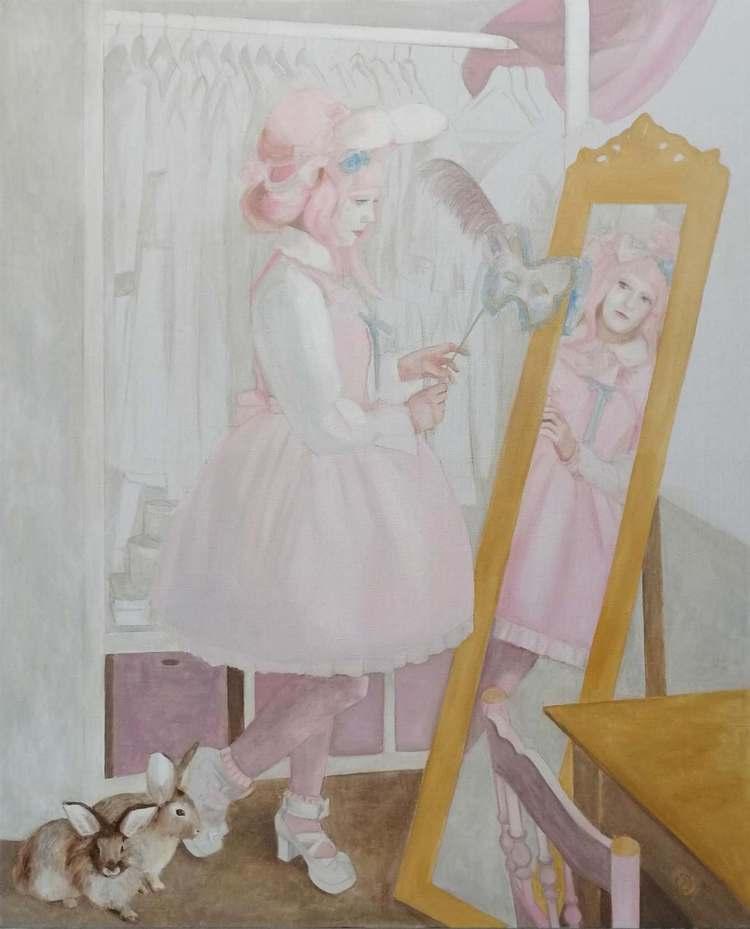 'Zolie representing Shironuri ', 2019, ett konstverk av Ulrika Wärmling