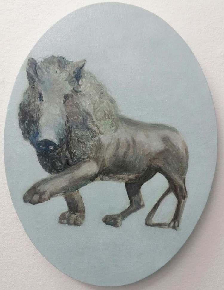 'Svinlejon', 2019, ett konstverk av Ulrika Wärmling