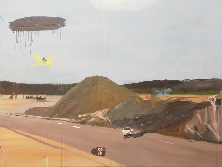 'Incident', 2016, ett konstverk av Märta König