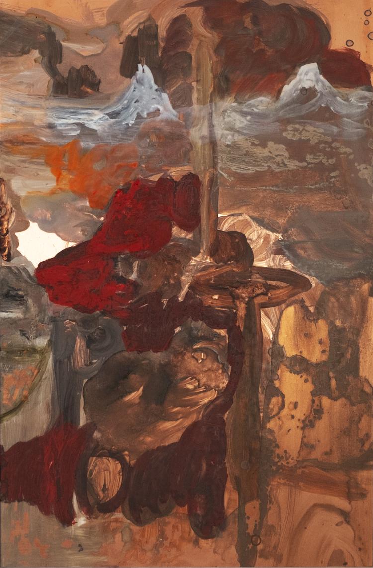 'Land-escape IV', 2019, ett konstverk av Karin Lind