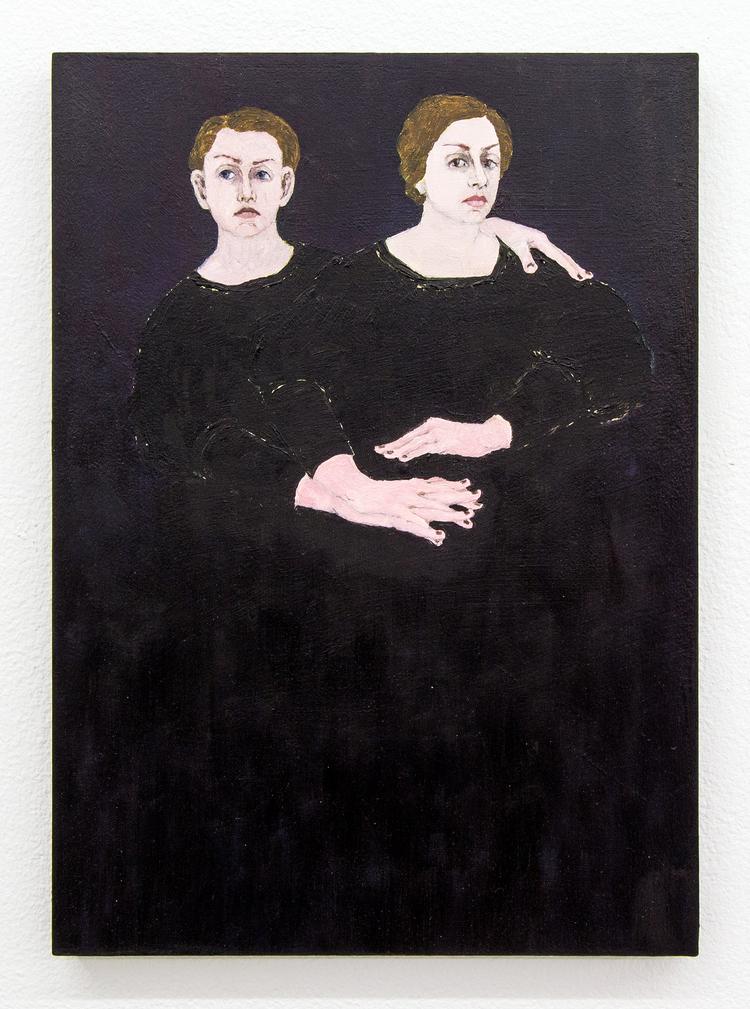 'Kvinnor i svart', 2018, ett konstverk av Humlan Lange