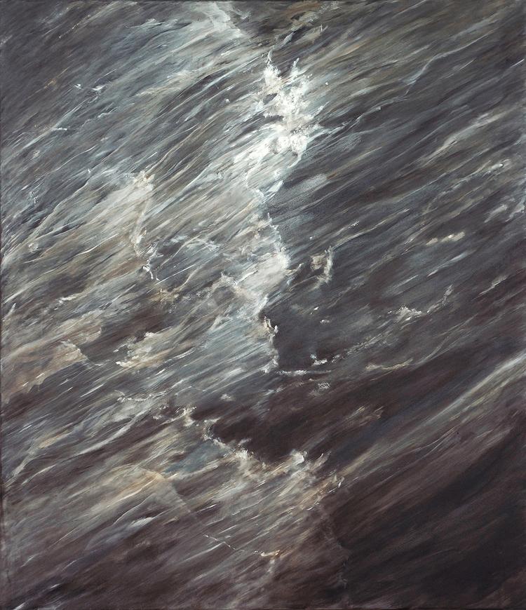 'In the wind, painting', 2018, ett konstverk av Ann Frössén