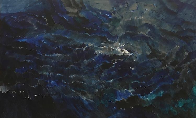 'Det inre havet, painting', 2018, ett konstverk av Ann Frössén