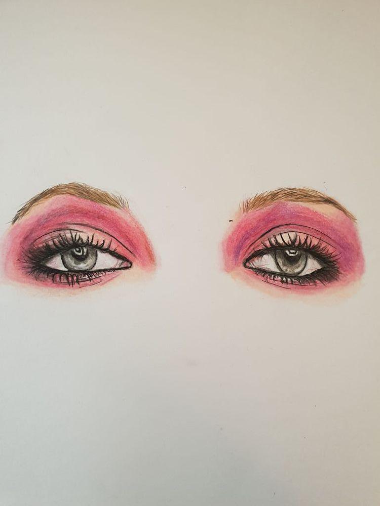 'Put your make up on', 2020, ett konstverk av Annamaria Johansson