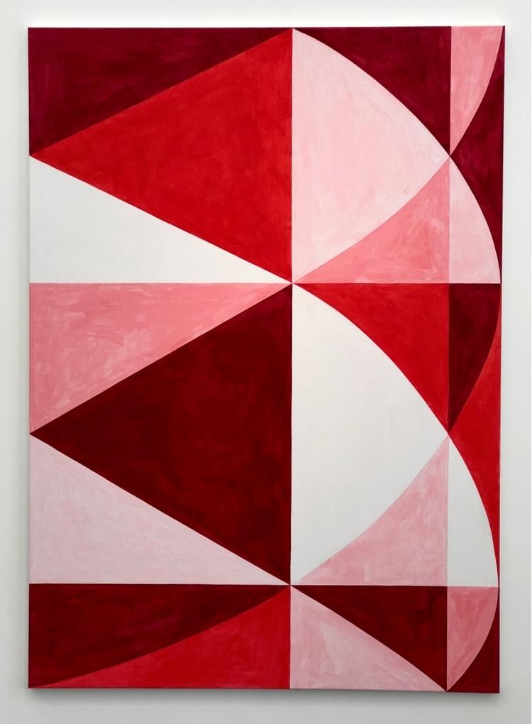 'Färgen binder formen', 2018, ett konstverk av Thomas Elovsson