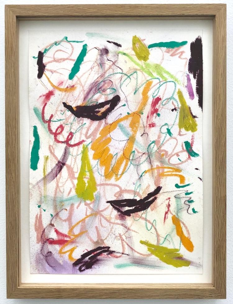 'Untitled (Oak Leaf Pink)', 2017, ett konstverk av Daniel Jensen