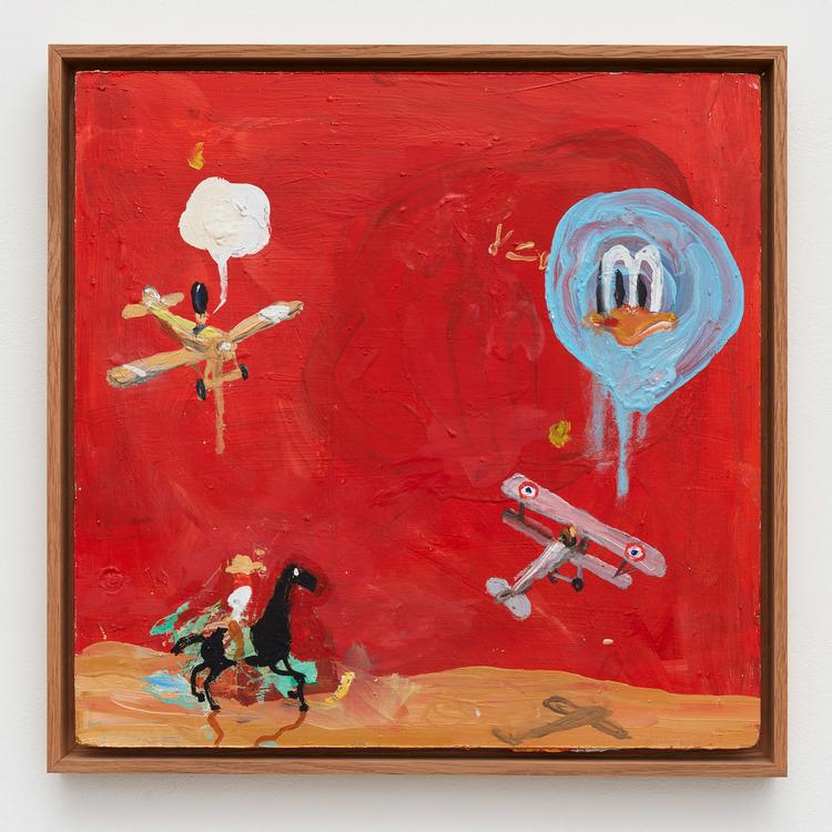 'Red Duck', 2014, ett konstverk av Roger Hansson