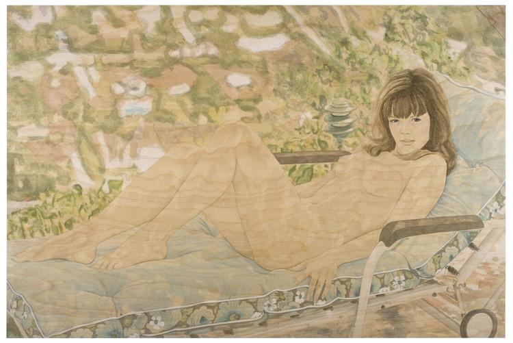 'The girl with the sun in her eyes', 2008, ett konstverk av Suzannah Sinclair