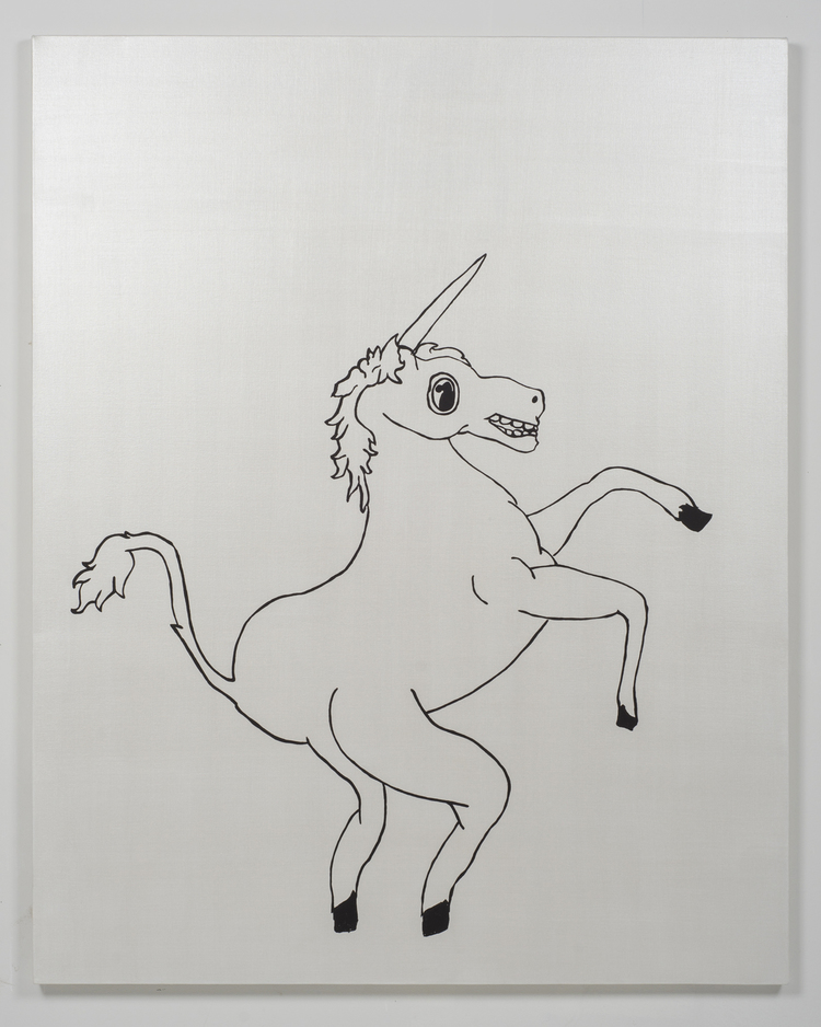 'Unicorn', 2015, ett konstverk av Ofer Wolberger