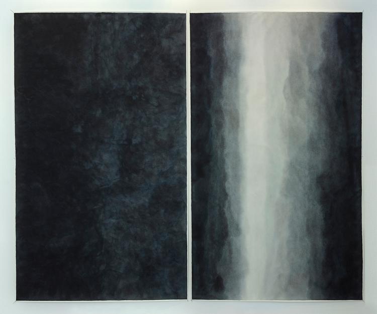 'kondensat/i övergång resonans 5', 2017, ett konstverk av Leif Palmquist