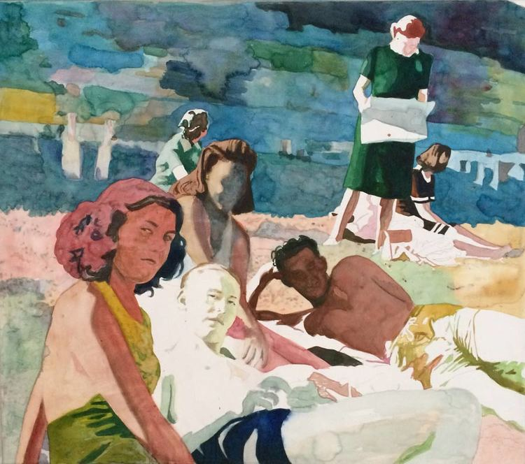 'Afternoon by the Sea', 2018, ett konstverk av Anders Romare