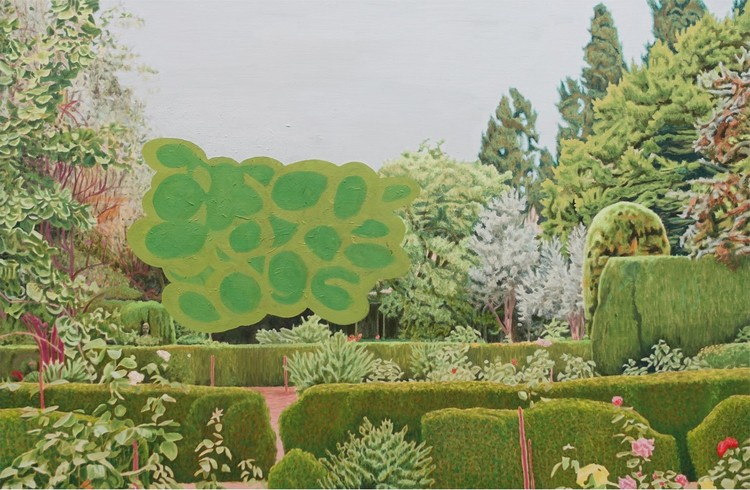 'Garden', 2018, ett konstverk av Pelle Perlefelt