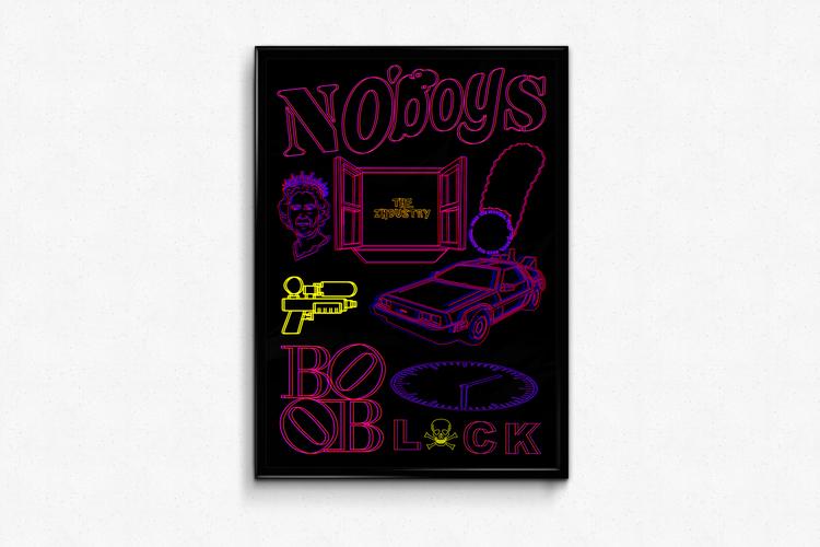 'NOBOYS', 2018, ett konstverk av Victor Gravestam