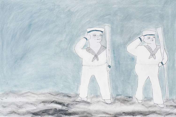 'Sail away', 2015, ett konstverk av Emilia Ilke