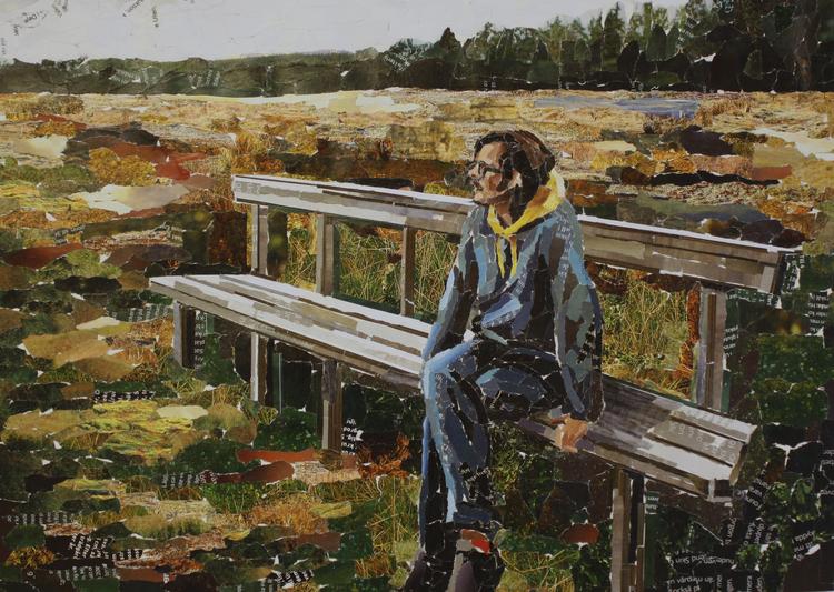 'Tänkaren', 2017, ett konstverk av Emelie Larsson