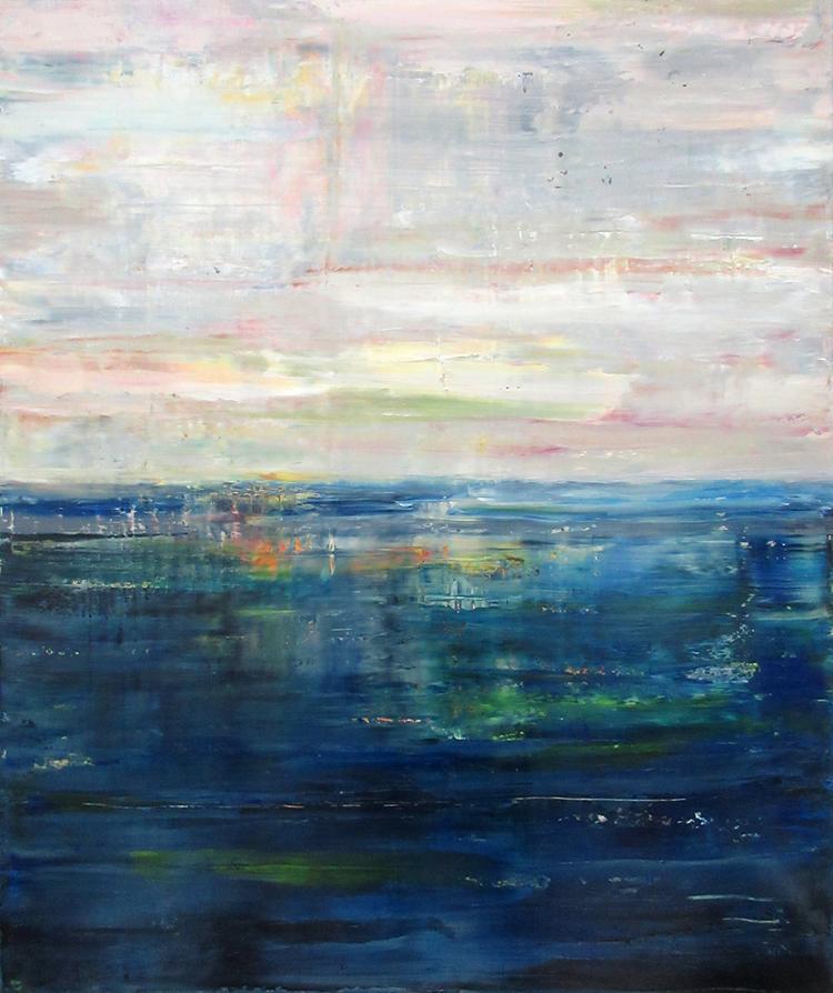 'Eternal seascape II', 2018, ett konstverk av Anna Rosenbäck