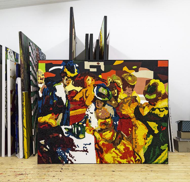 'Nattsudd II', 2015, ett konstverk av Per Josephson