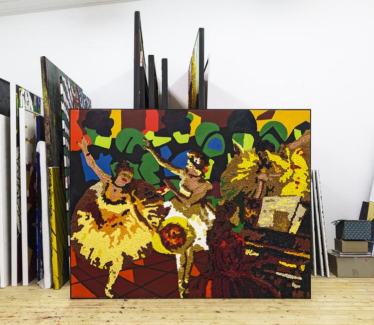 'På diagonalen', 2015, ett konstverk av Per Josephson