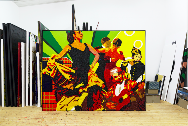 'Dansen, gitarren och flöjten', 2015, ett konstverk av Per Josephson