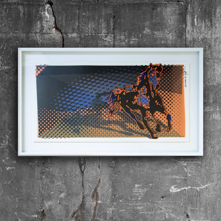 'Vildhästar 1, 2 & 3', 2018, ett konstverk av Per Josephson