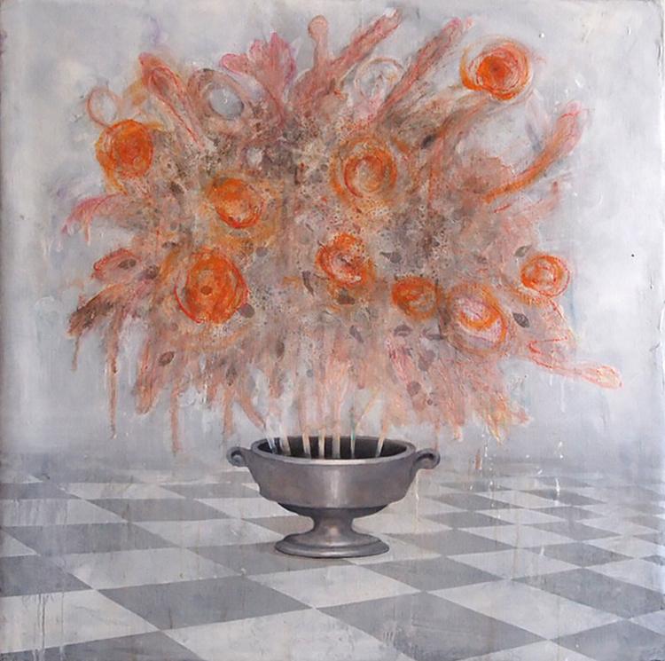 'Blomster', 2017, ett konstverk av Johan Petterson