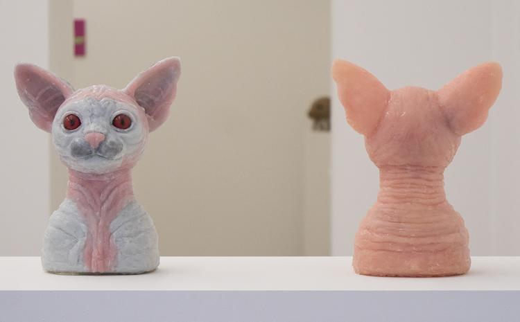 'De von Rex (grey and pink)', 2017, ett konstverk av Hanna Beling