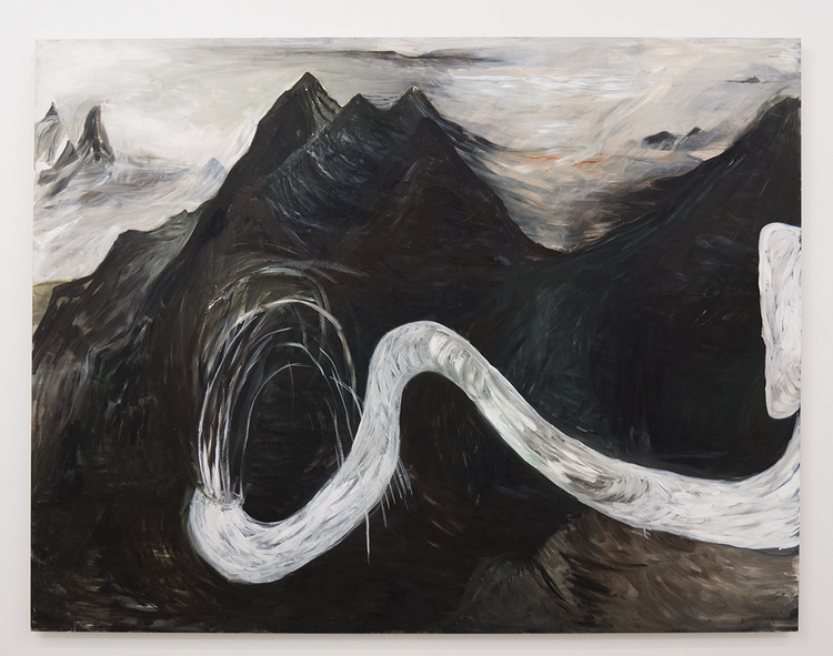 'In Between Peaks', 2017, ett konstverk av Karin Lind