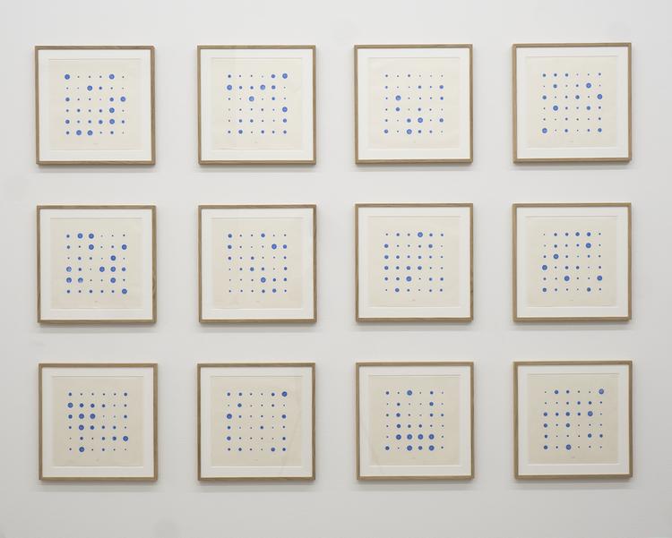 'Another blue day in the diary of Ms Chance', 2018, ett konstverk av Olle Borg