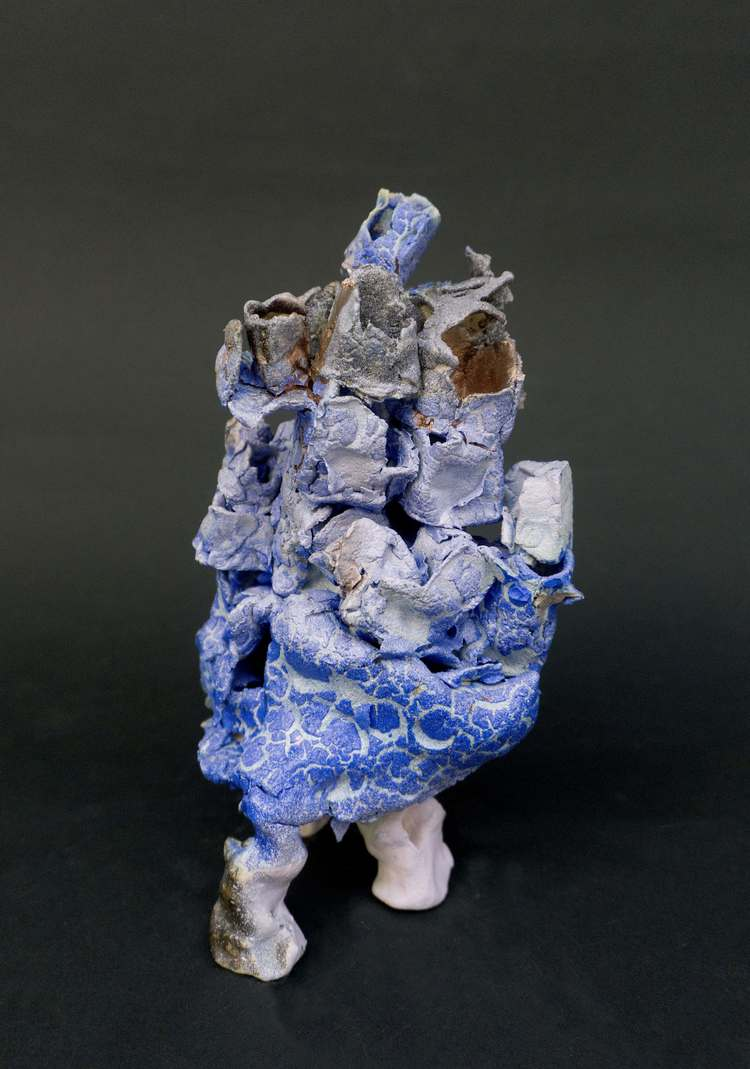 'Lila blå vandraren', 2015, ett konstverk av Anna Tedestam