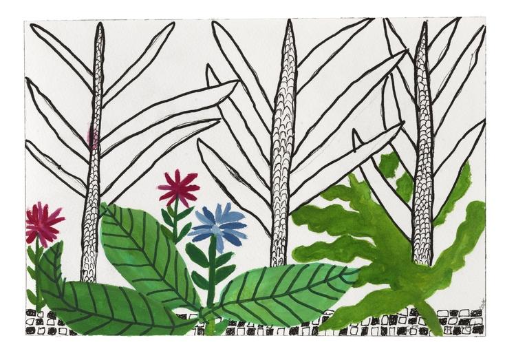 'Grönt blad', 2016, ett konstverk av Eva Kerek
