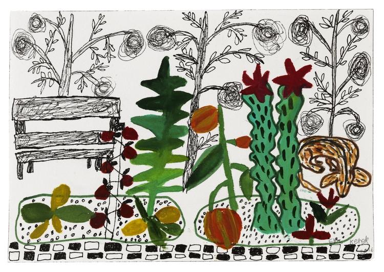 'Kaktusträdgård', 2016, ett konstverk av Eva Kerek