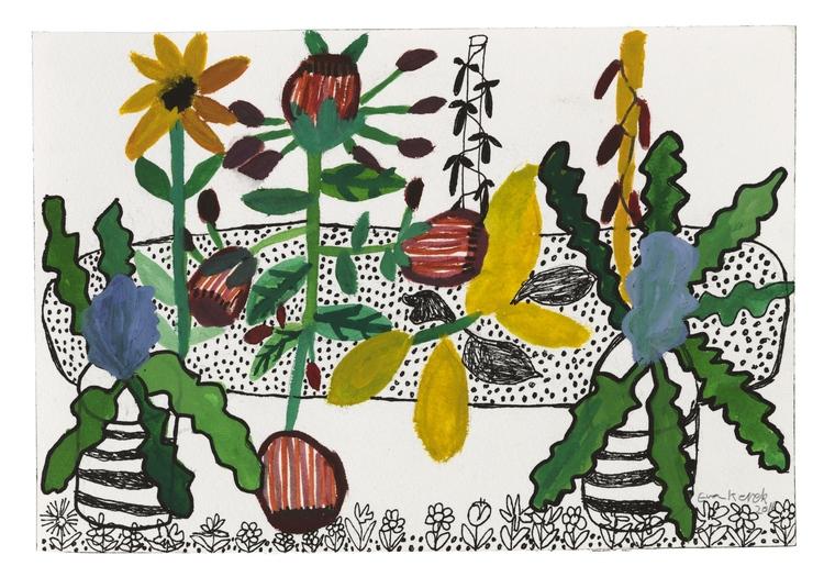 'Min trädgård', 2016, ett konstverk av Eva Kerek