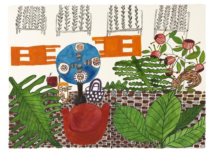 'Fika', 2016, ett konstverk av Eva Kerek