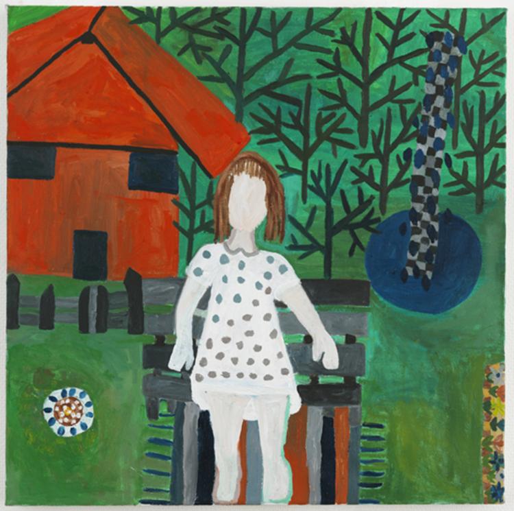 'Kanelbullen i gräset', 2013, ett konstverk av Eva Kerek