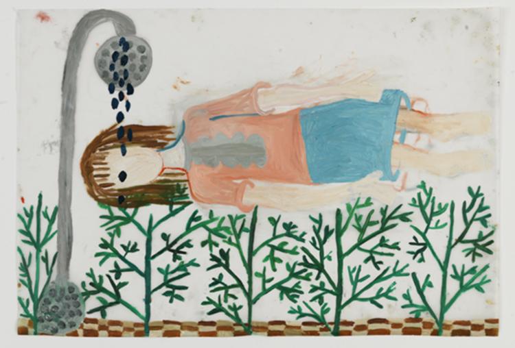 'Flickan som ligger och funderar', 2013, ett konstverk av Eva Kerek