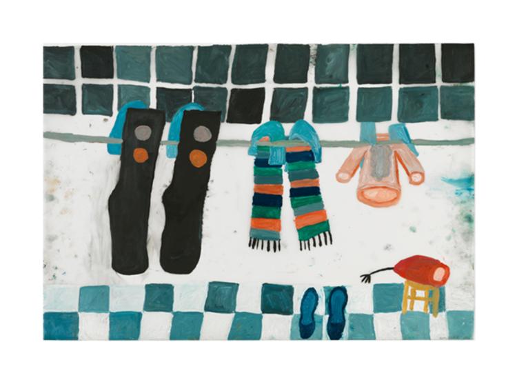 'Ren tvätt', 2013, ett konstverk av Eva Kerek
