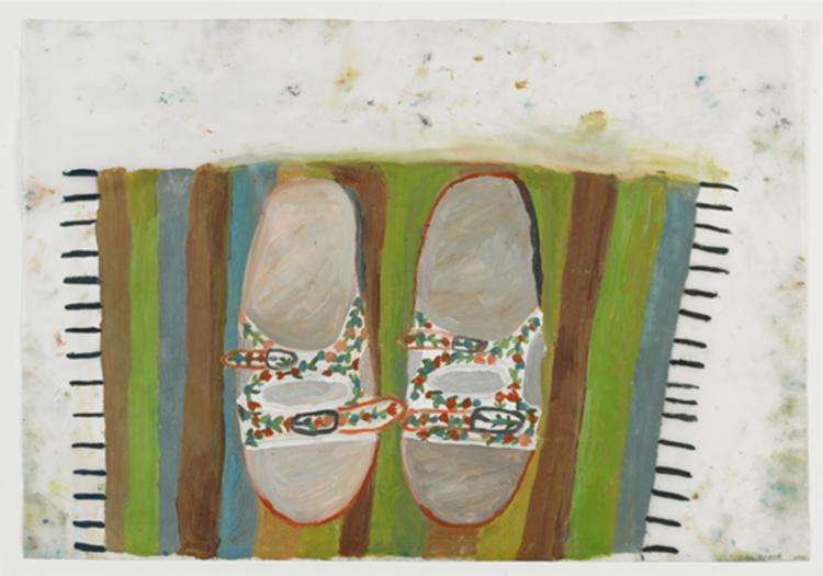 'Innetofflor', 2013, ett konstverk av Eva Kerek